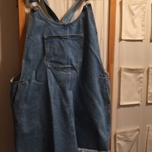 H&M denim dress with overalls size Large